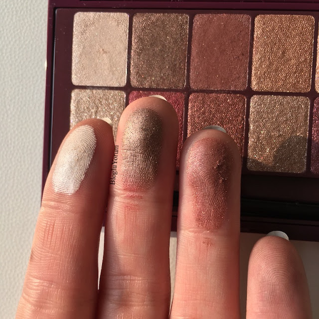 maybelline the burgundy bar far paleti incelemesi swatch