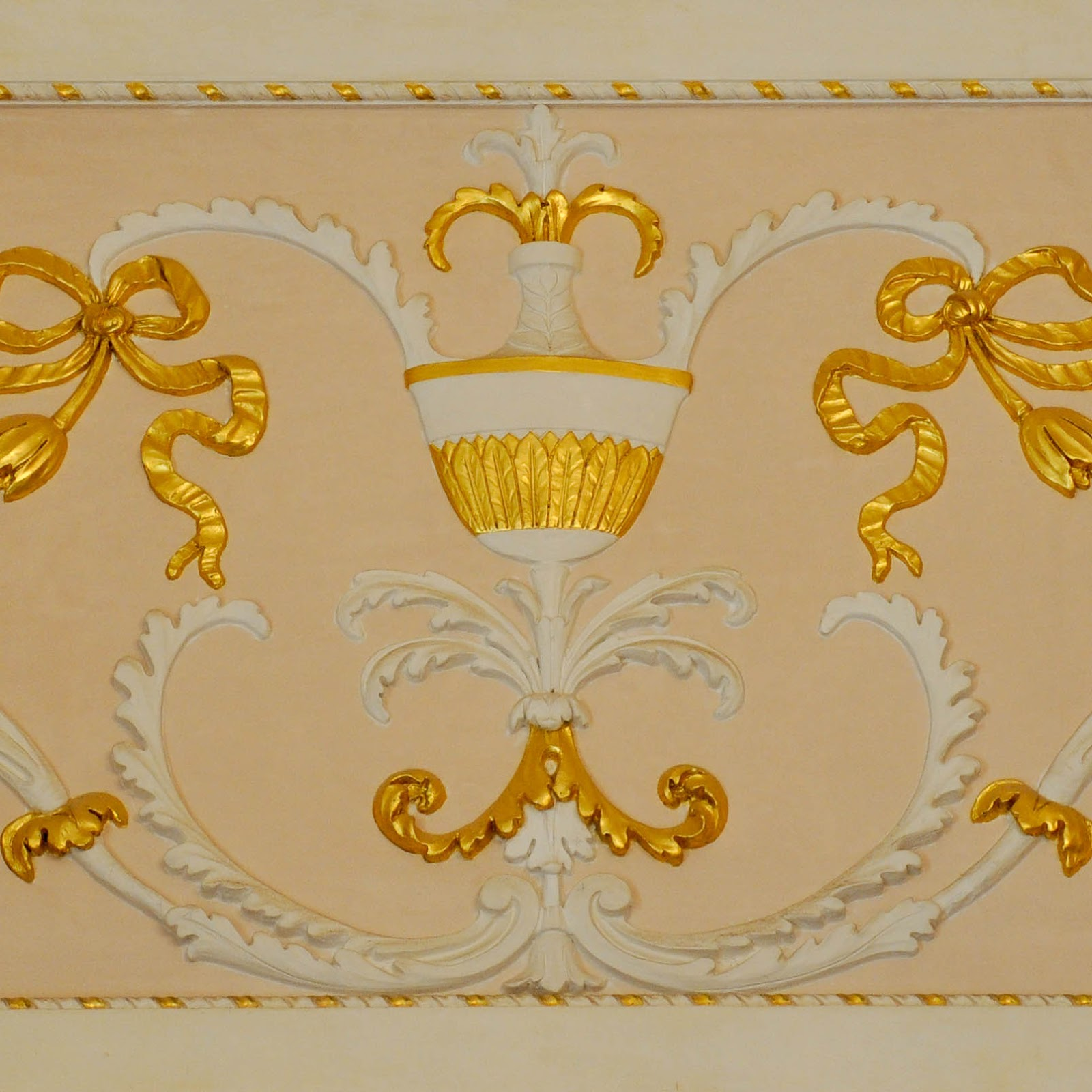 Gold detail on the wall, La Fenice, Venice, Italy