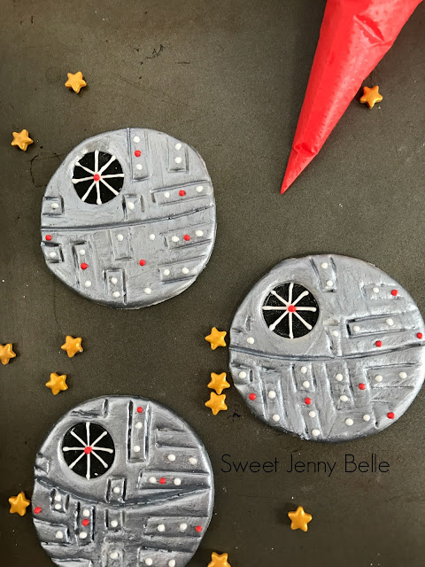 death star fondant cupcake topper star wars