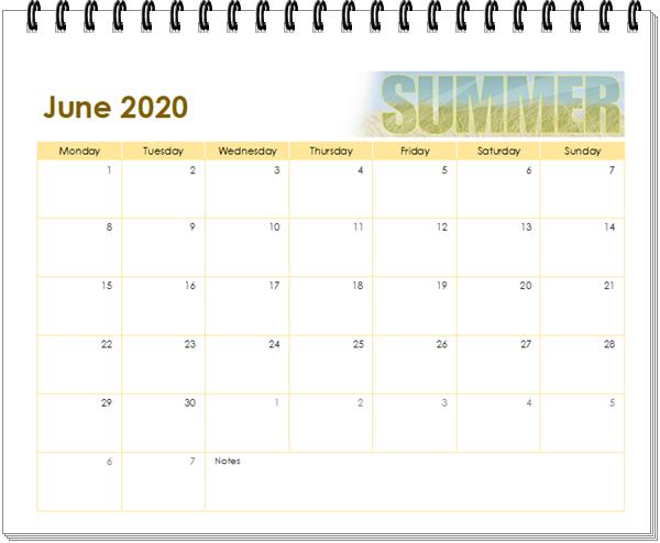 kalender 2020 juni