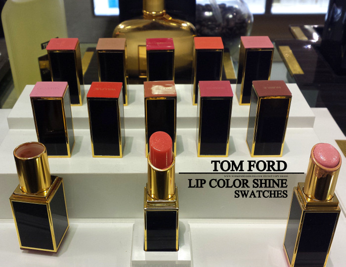Tom Ford Beauty - Makeup - Lip Color Shine Lipsticks - Swatches