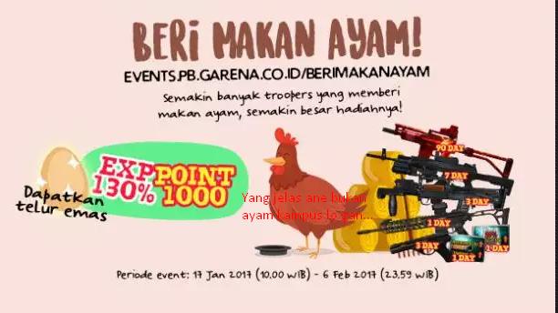 Ini Dia Panduan Lengkap Event 'Beri Makan Ayam' PB Garena
