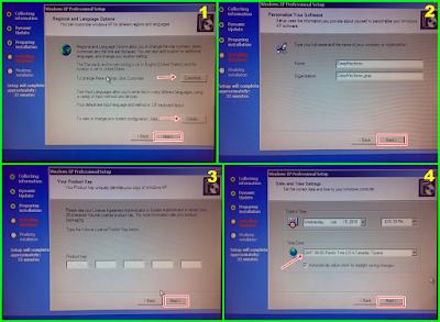 Melakukan Seting Wilayah, Bahasa dan Lokasi pada saat Instalasi Win Xp