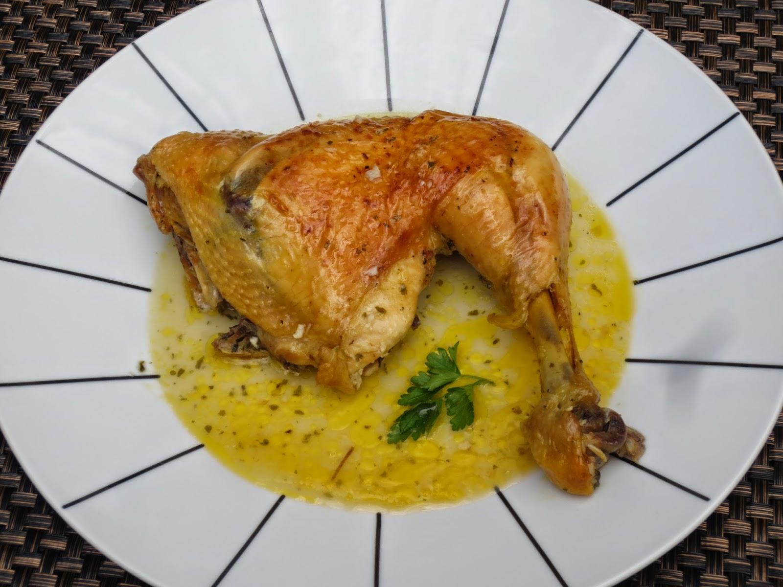 Pollo asado en su jugo olla GM