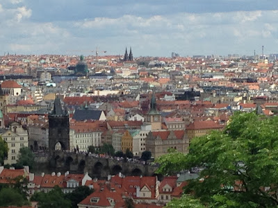 Prague City top view