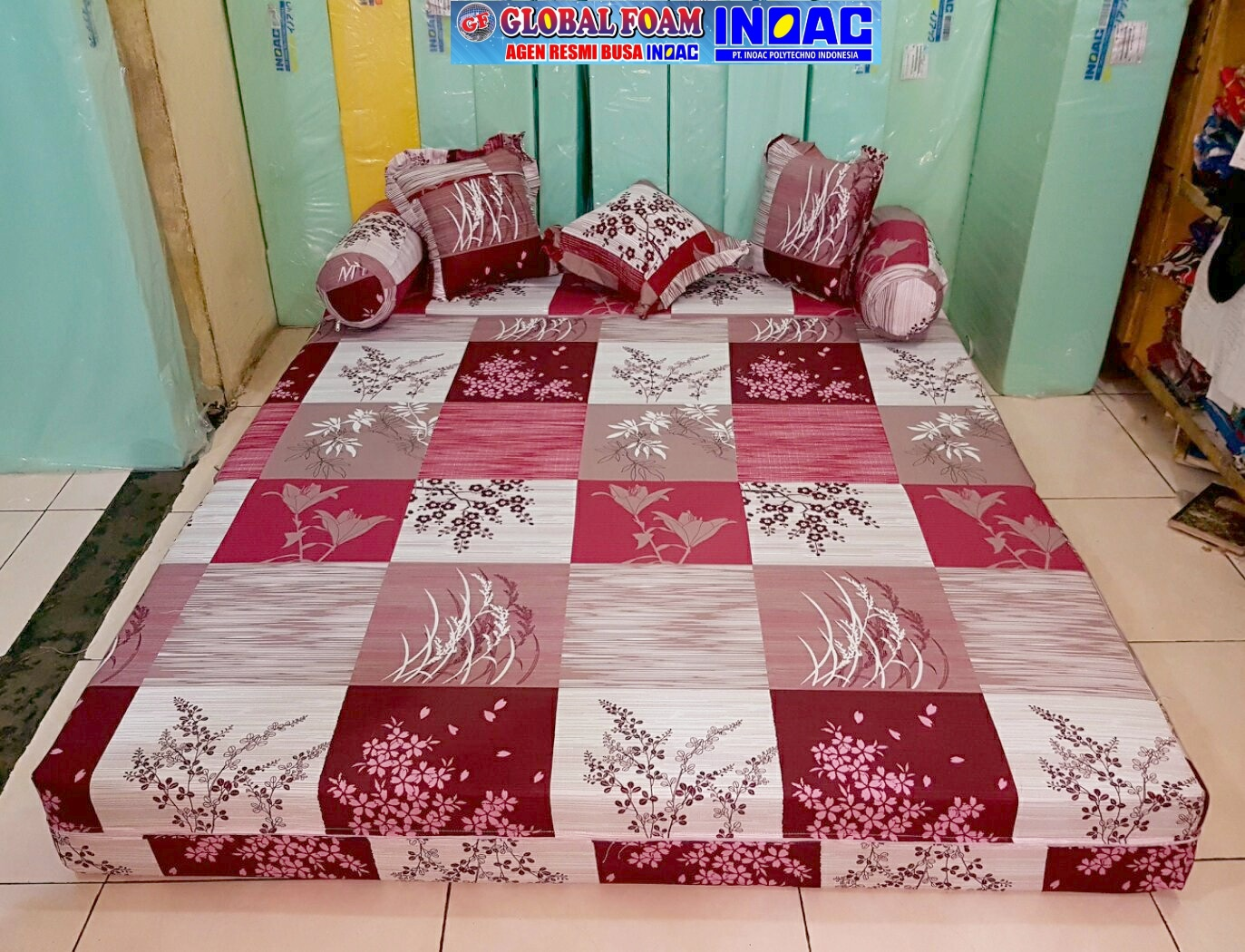 harga sofa bed inoac no 1 pillow back slipcover kasur 2018 distributor busa asli global