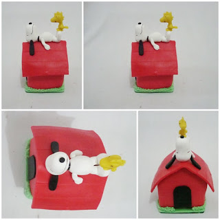 Casa do snoopy em biscuit
