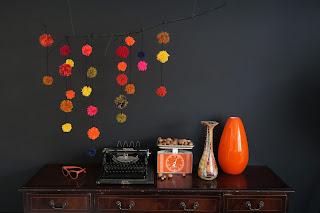 Pompom Fall decoration