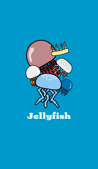 Theme of jellyfishes