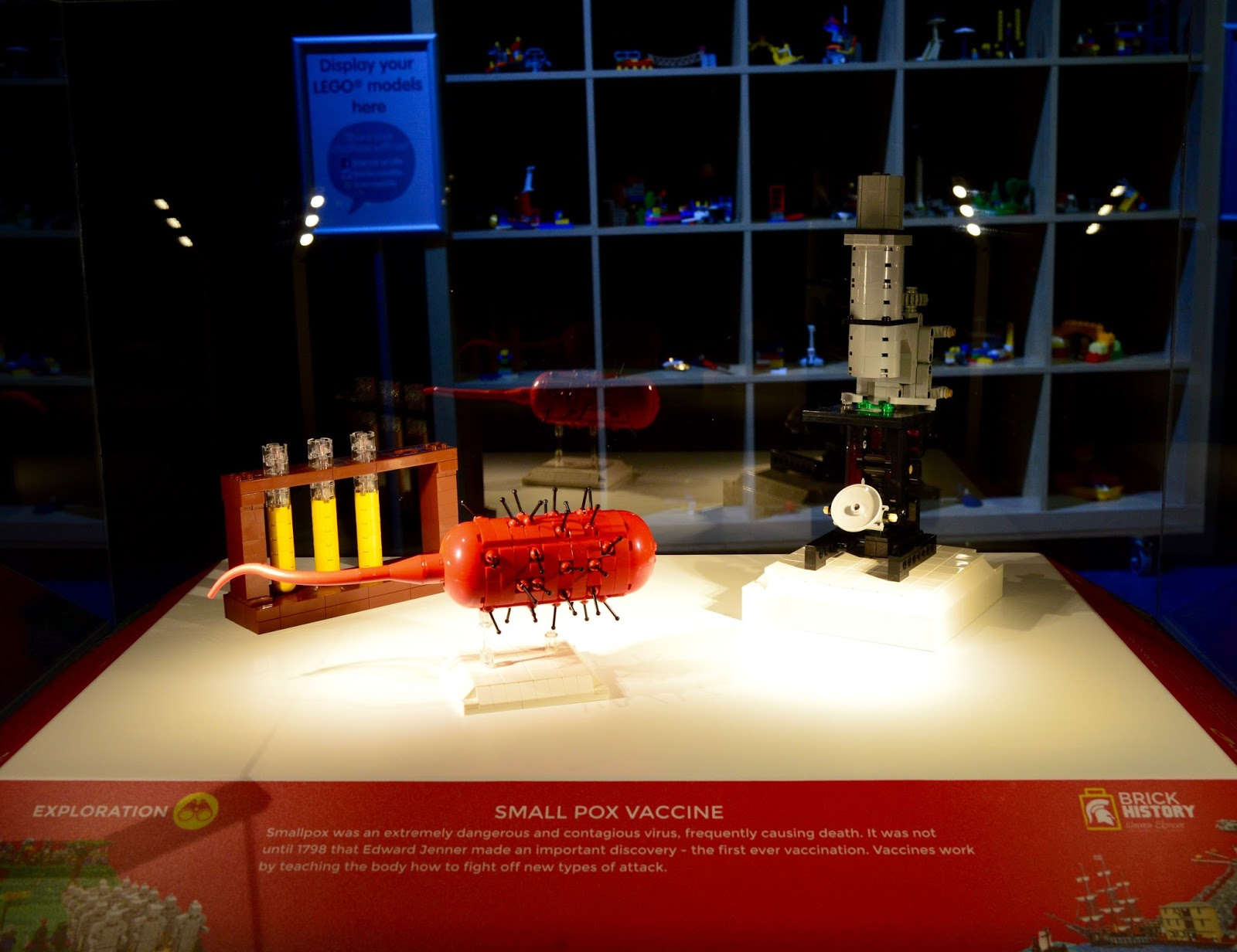 Brick History & North East Landmarks | New Lego Exhibitions at Life Science Centre, Newcastle | A Review - the small pox vaccine