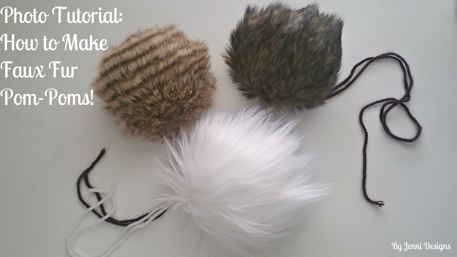 95551e58163 By Jenni Designs  Photo Tutorial  How to Make Faux Fur Pom-Poms!