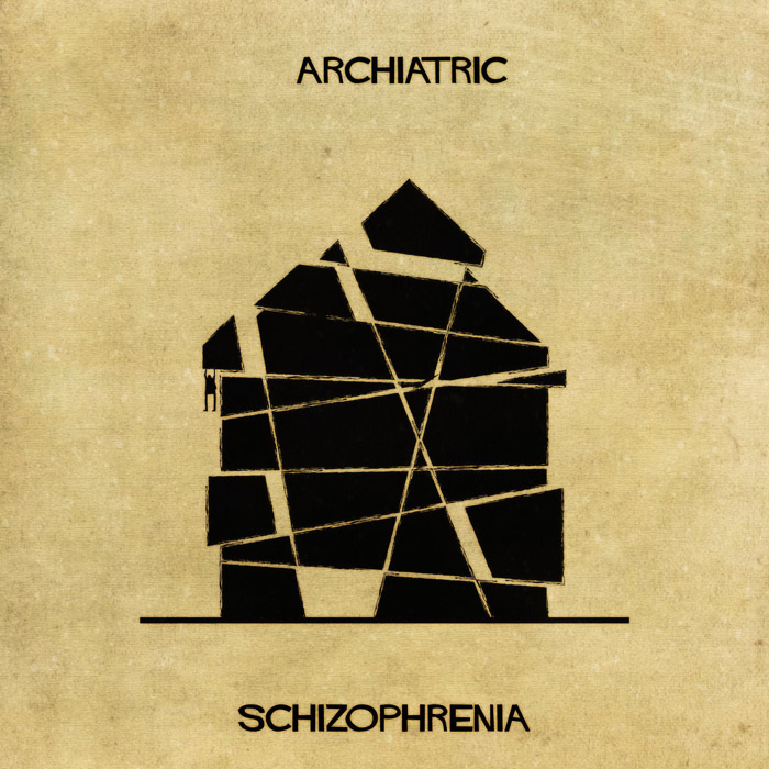 16 Mental Disorders Illustrated Through Architecture - Schizophrenia