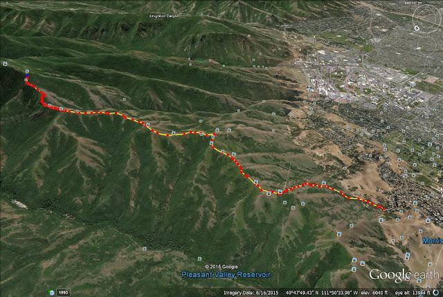 Little Black Mountain trail map
