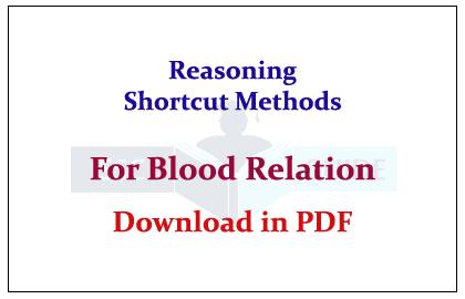 Blood Relation Reasoning Pdf