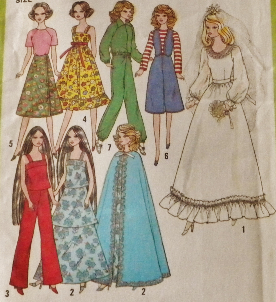 barbie doll clothes patterns - photo #45