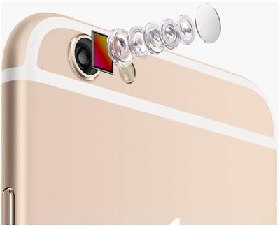 Iphone 6 plus lock có camera được nâng cấp hơn.