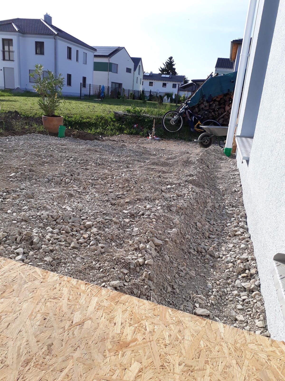 26.05.17_ Terrasse und Eingangsbereich | Bauvorhaben 2016 - 2017 mit ...