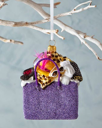 322c516ea4c1 ... Shopping Bag Tree Ornament. Have a very style conscious tree with  Michael Storrings Bergdorf Goodman tree decorations.