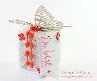 stampin Up Teamtreffen, Überraschungsbox basteln, Schmetterlingsbox basteln, Stempel-Biene, Stampin Up Jahreskatalog 2015, Bestellen Stampin' up