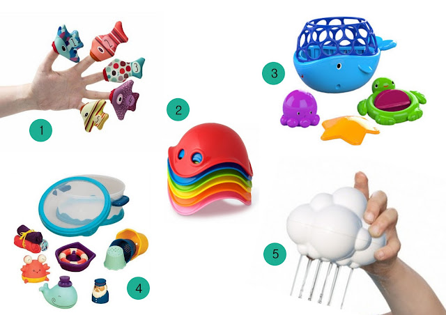 zabawki do kąpieli, zabawki na 1 urodziny dziecka