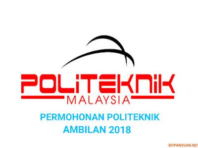 Permohonan Politeknik Ambilan 2018 Online
