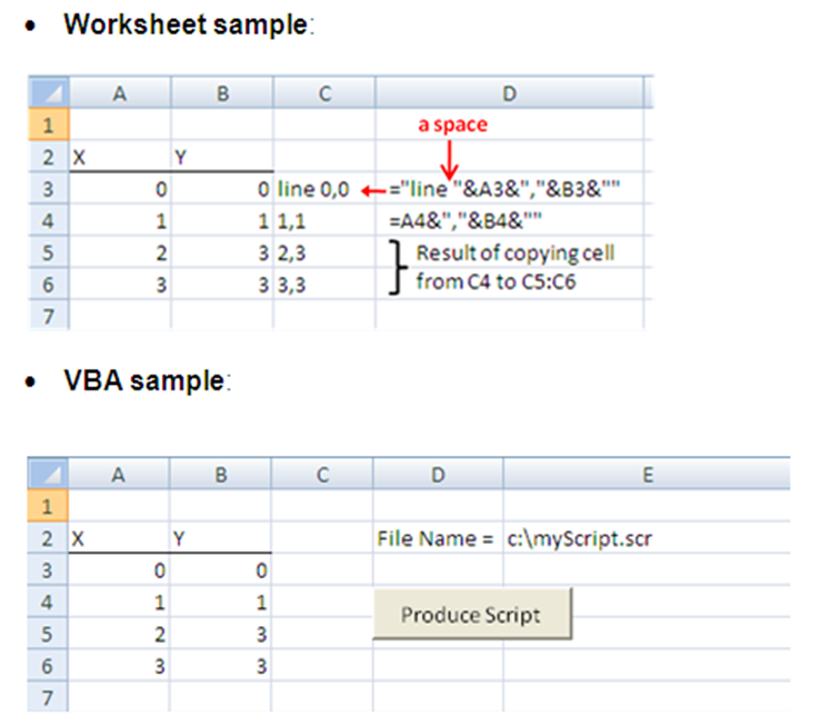 Excel for Civil Engineers: AutoCAD Script Files