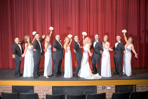 wedding pictures in a theater