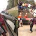 Terrible accident just happened at the entrace of Lekki phase 1, lifeless body seen on the floor