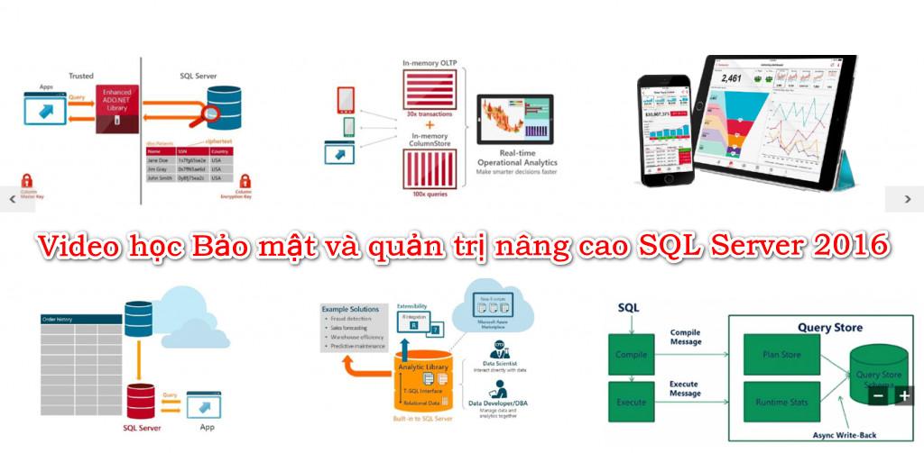 Video học Bảo mật và quản trị nâng cao SQL Server 2016