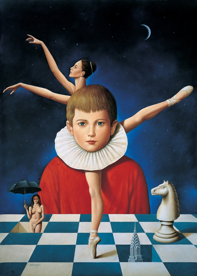 06-Chess-and-Ballet-Rafal-Olbinski-Surreal-Paintings-that-Whisper-a-Message-www-designstack-co