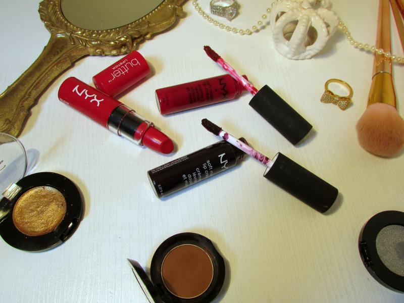 NYX lipsticks review