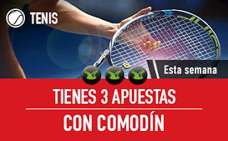 sportium Tenis: 3 Apuestas con Comodín 23-29 abril