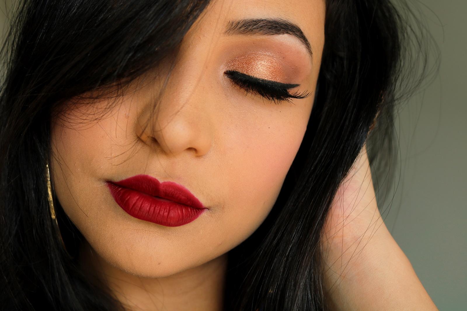 Maquiagem Dourada Chic Nitielle Mendes