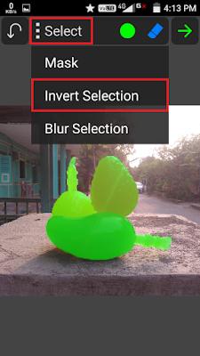 """Jika sudah, klik Opsi """"Select"""" kemudian pilih """"Invert Selection""""."""