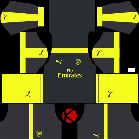 Arsenal Away Kit   Kids