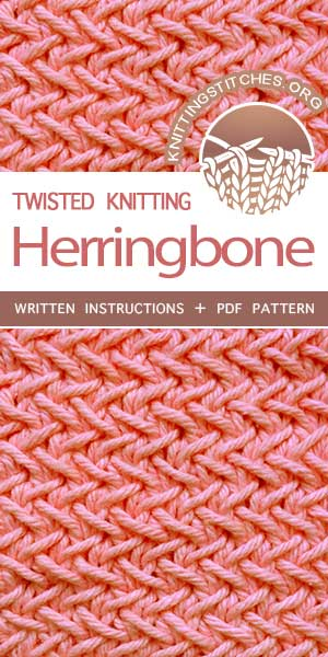 KnittingStitches.org -- Knitting Patterns Free, knit Herringbone Stitch. So fun, so easy, with great results! #knit #knittingpattern #KnittingStitches