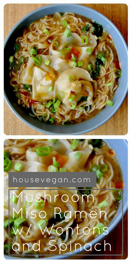 best vegan ramen, vegan ramen recipe, best mushroom ramen, ramen with wontons