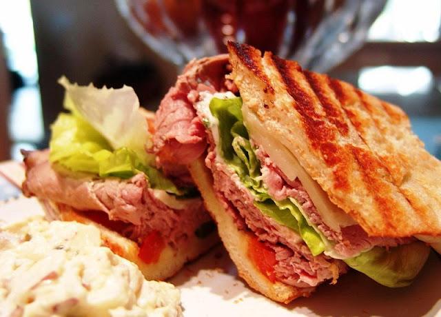 healthy breakfast sandwich recipes, egg  greens goat cheese breakfast sandwich, roast beef panini