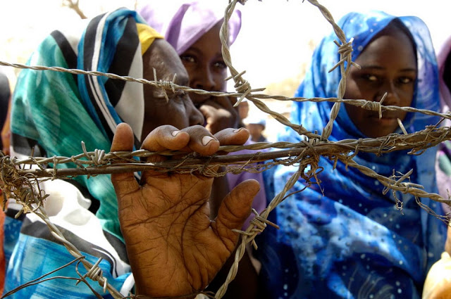 Internally Displaced Persons at  Zam Zam camp outside El Fasher, Sudan
