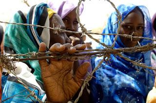 Internally Displaced Persons at Zam Zam camp outside El Fasher, Sudan