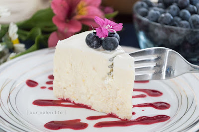 The BEST Instant Pot or Pressure Cooker Cheesecake featured on SlowCookerFromScratch.com