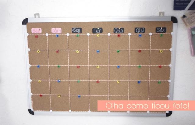 Faça você mesmo: calendário permanente com quadro de cortiça