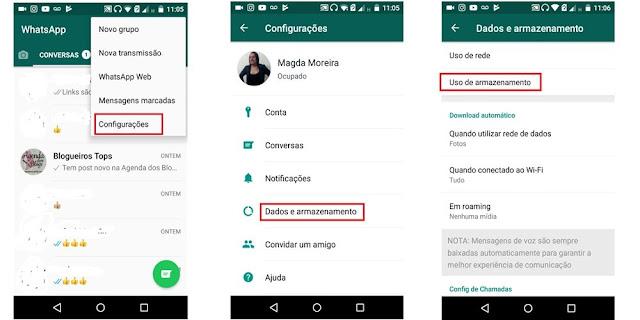 Aprenda a limpar arquivos no Whatsapp.