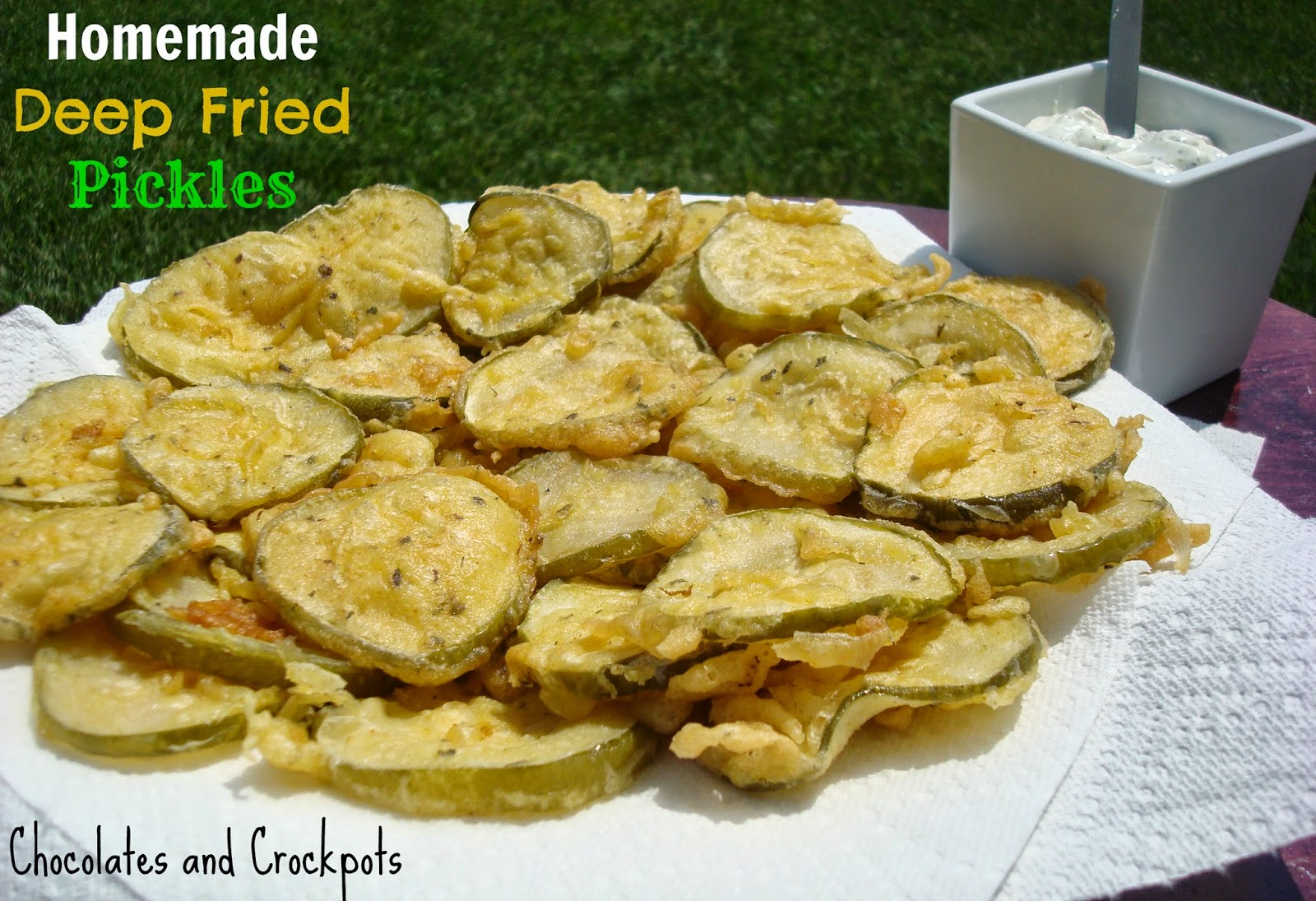 Chocolates and Crockpots: Homemade Deep Fried Pickles