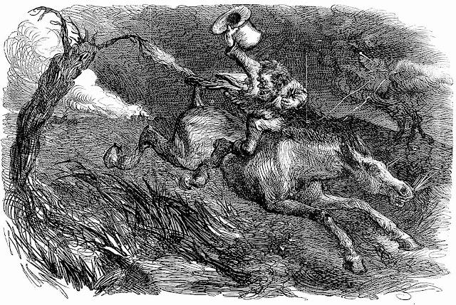 an 1865 John Gilbert illustration of a villain