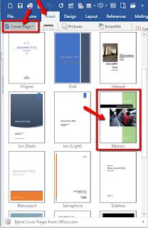 Cara Membuat Halaman Sampul dengan Microsoft Word