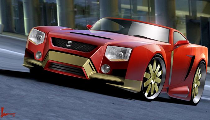 2008 S Iron Man Original Design For Tony Stark S Car Plus Unused Gadgets
