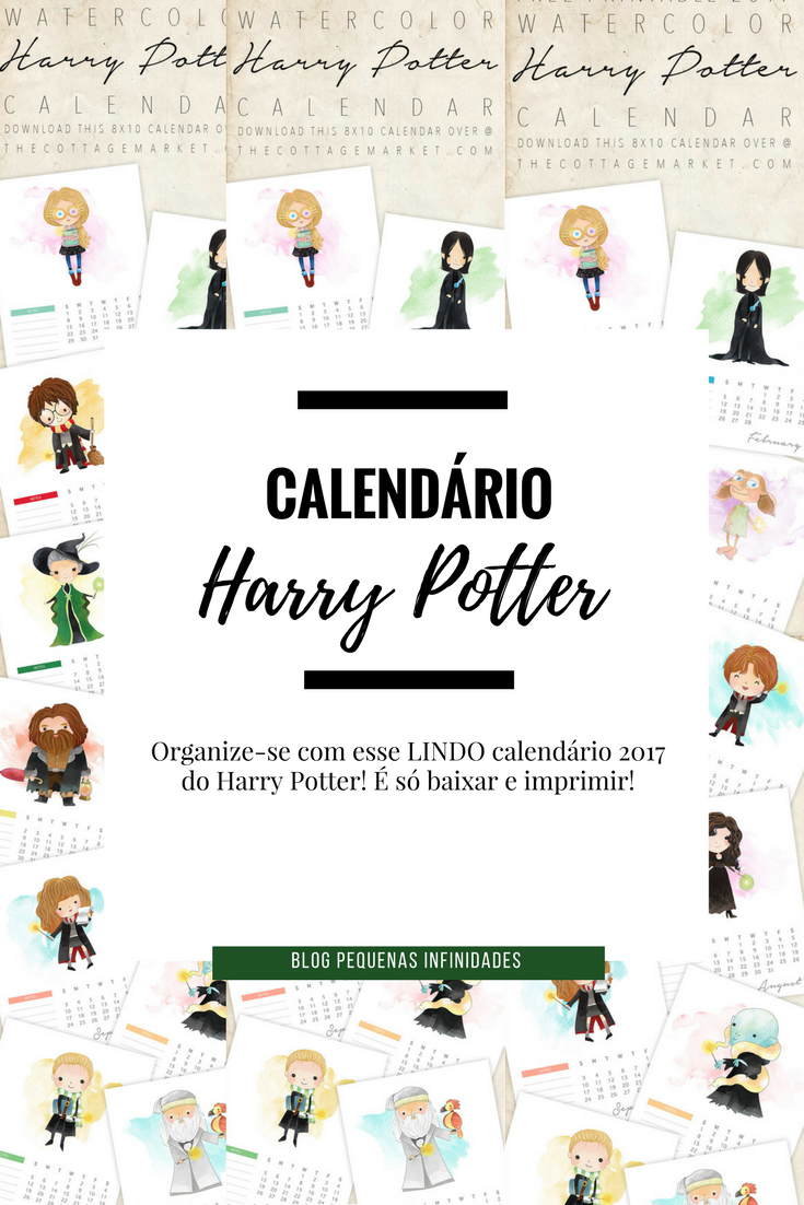 Calendario Harry Potter.Calendario 2017 Harry Potter Para Imprimir Gratis Blog