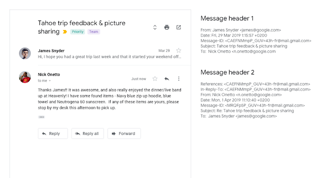 Threading changes in Gmail conversation view