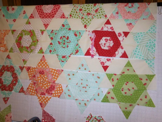 vicki 39 s crafts and quilting whats on my design wall today